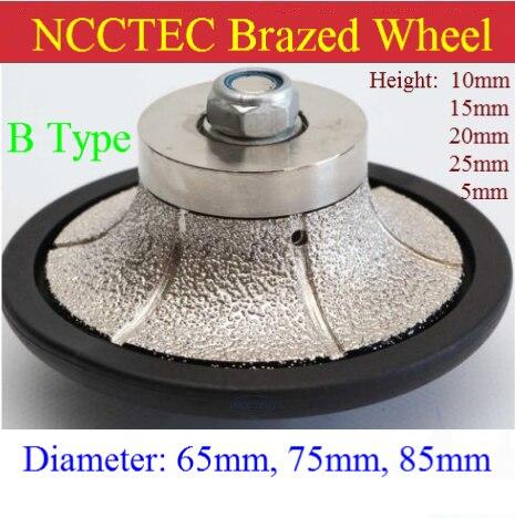 شكل دائري من نوع B ، عجلة تشكيل من الجرانيت ، 75 مللي متر * 10 مللي متر/15 مللي متر/25 مللي متر