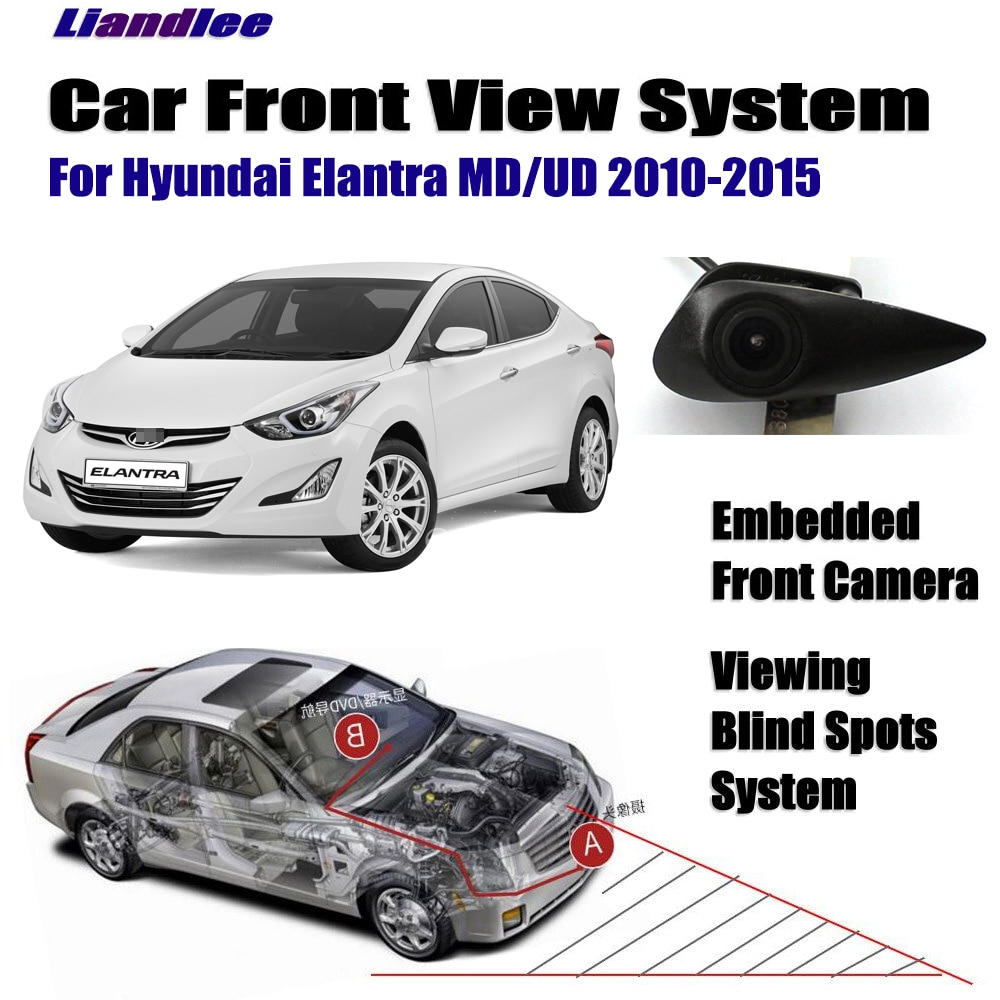 Câmera de visão frontal do carro para hyundai elantra md ud 2010-2020 2012 2013 2014 2015 2016 2017 2018 não câmera de visão traseira hd acessórios