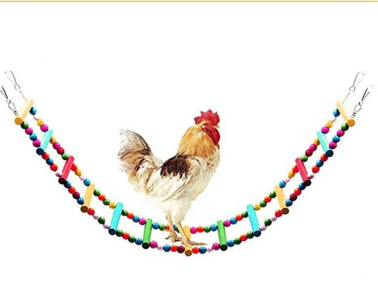 Wooden Chicken Flexible Ladder,Parrot Chicken Swing,Pet Toy