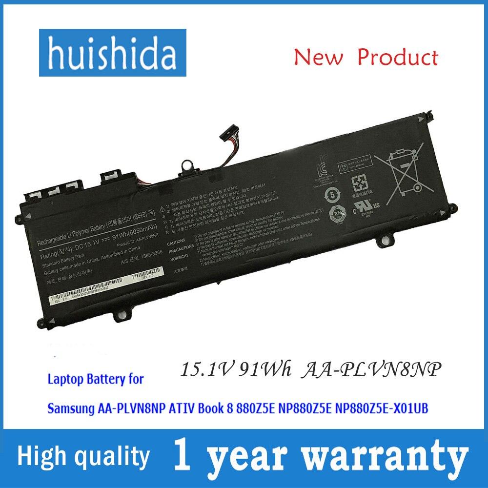 15,1 V 91Wh AA-PLVN8NP nueva batería del ordenador portátil para samsung ativ Book 8 NP880Z5E NP880Z5E-X01UB NP780Z5E-S02CA NP780Z5E-TO2UK seri