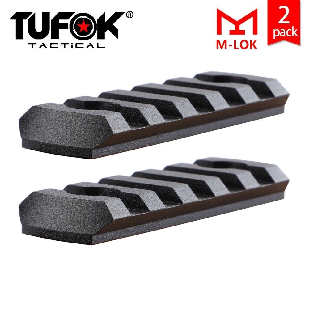 TuFok perfil bajo m-lok 5 ranuras Rail sección Mlok adaptador de riel Picatinny Weaver carril montaje accesorio (2 paquetes)