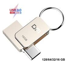 DM PD059 USB-Stick 3,0 USB C OTG Stift stick 128 64 32GB Für Samsung S9 Plus Hinweis 9 für Xiaomi Redmi5 Memory Stick Stick