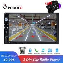 """Podofo Universal 2 din Auto Multimedia Player Autoradio 2din Auto Stereo 7 """"Touch Screen Video MP5 Player Auto Radio rearvi Kamera"""