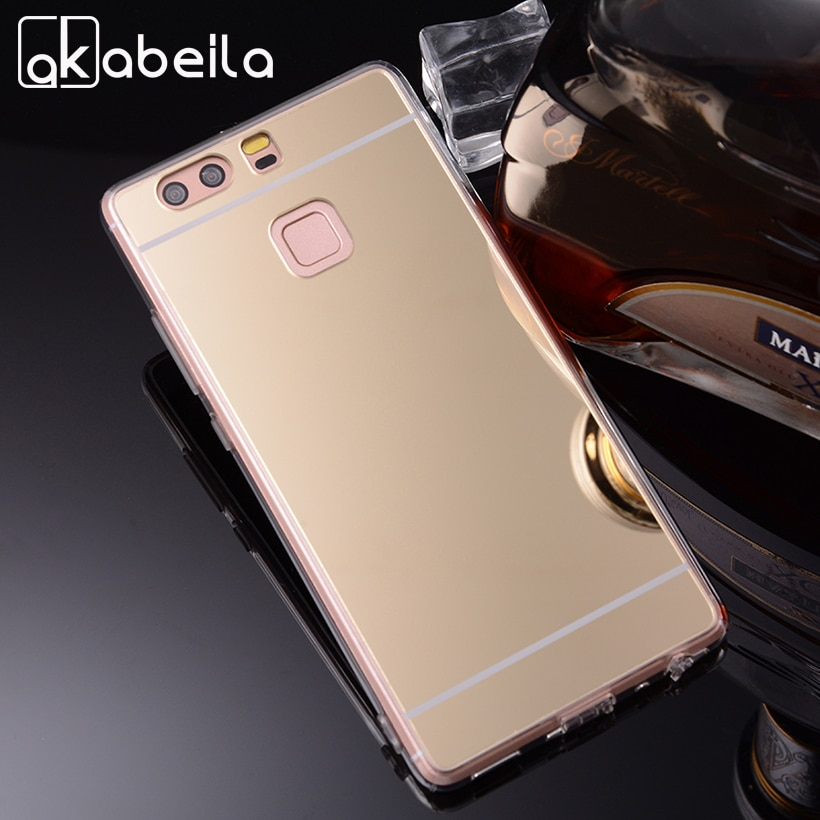 Чехлы для телефонов AKABEILA, для Huawei P9, EVA-L09, одна sim-карта, EVA-L19, две sim-карты, 5,2 дюйма, мягкий зеркальный чехол для ПК, задняя крышка, чехол