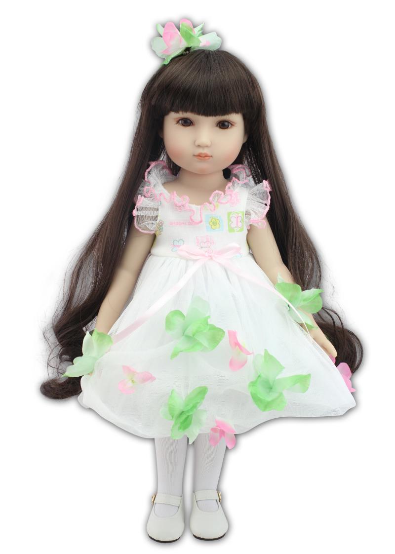 NPK 18 /45 см кукла принцессы для девочек, игрушка для ванны, Реалистичная Модная Кукла для новорожденных, Bonecas Bebes Reborn Menina, игрушки для детей