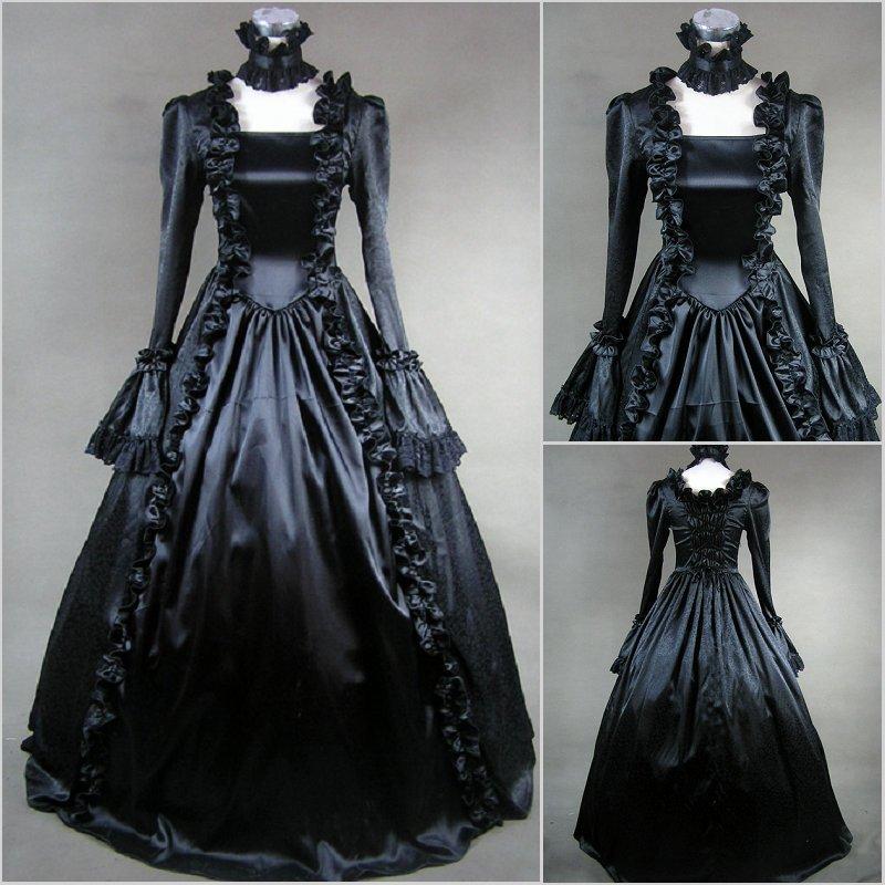 Бесплатная доставка Горячая Распродажа элегантное платье дворца Хэллоуин с