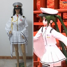 Vocaloid Hatsune Miku Senbon Sakura blanc Miku Cosplay Costume avec chapeau gants chaussettes