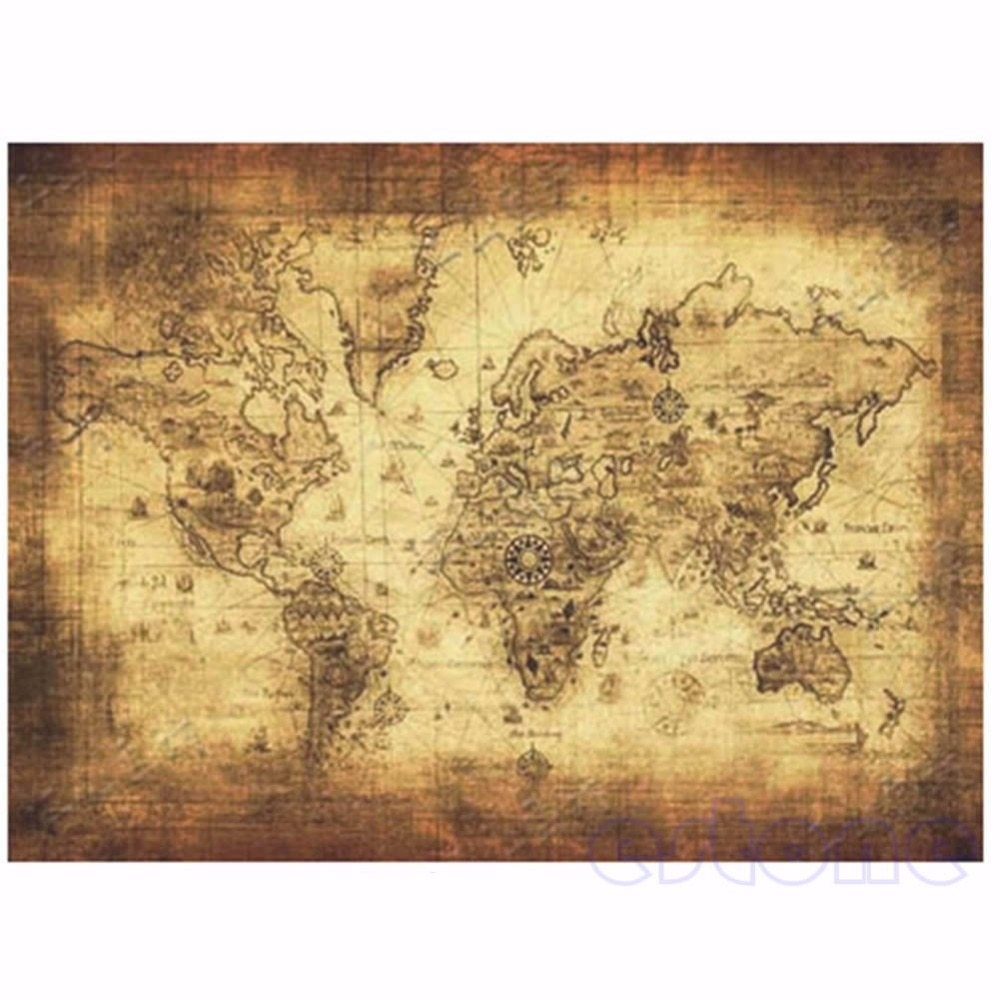71x51cm grande estilo vintage retro papel cartaz globo mapa do mundo antigo grandes presentes