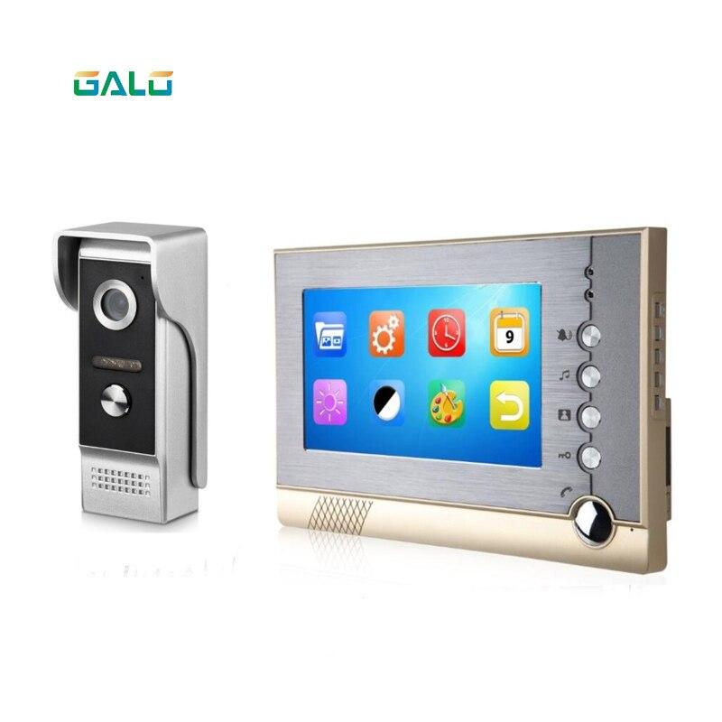 9Inch cable telefonillo con vídeo intercomunicador timbre Bluetooth con doble de intercomunicador y IR cámara de visión nocturna para casa privada