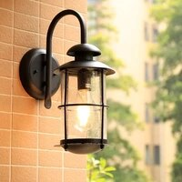 hawboirr led european style simple outdoor villa balcony waterproof rust retro corridor lights residential street wall lamp