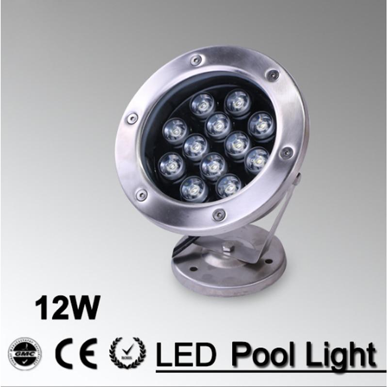 Fuente IP68 rgb, luz led de inundación, lámpara subacuática para exteriores, piscina, estanque blanco 12V 220V 3W 6W 9W 12W 18W 10 Uds