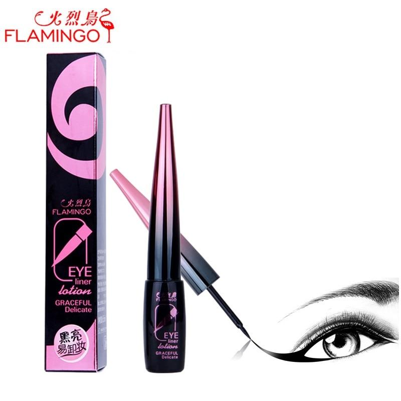 Eye Makeup FLAMINGO Eye liner Brand 6.5ml Hard Head Quick-drying Waterproof not blooming Easy to Draw Black Liquid Eyeliner 188