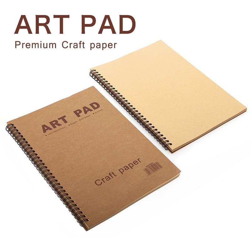 Художественный блокнот 16K 60 лист эскиз книга блокнот 80gsm ремесло бумага канцелярский блокнот для рисования тонер Карандаш цветные карандаш...