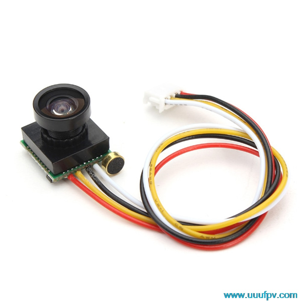 600TVL 170 grados Super pequeño vídeo en color FPV mini cámara con audio para Mini 200 250 300 Quadcopter