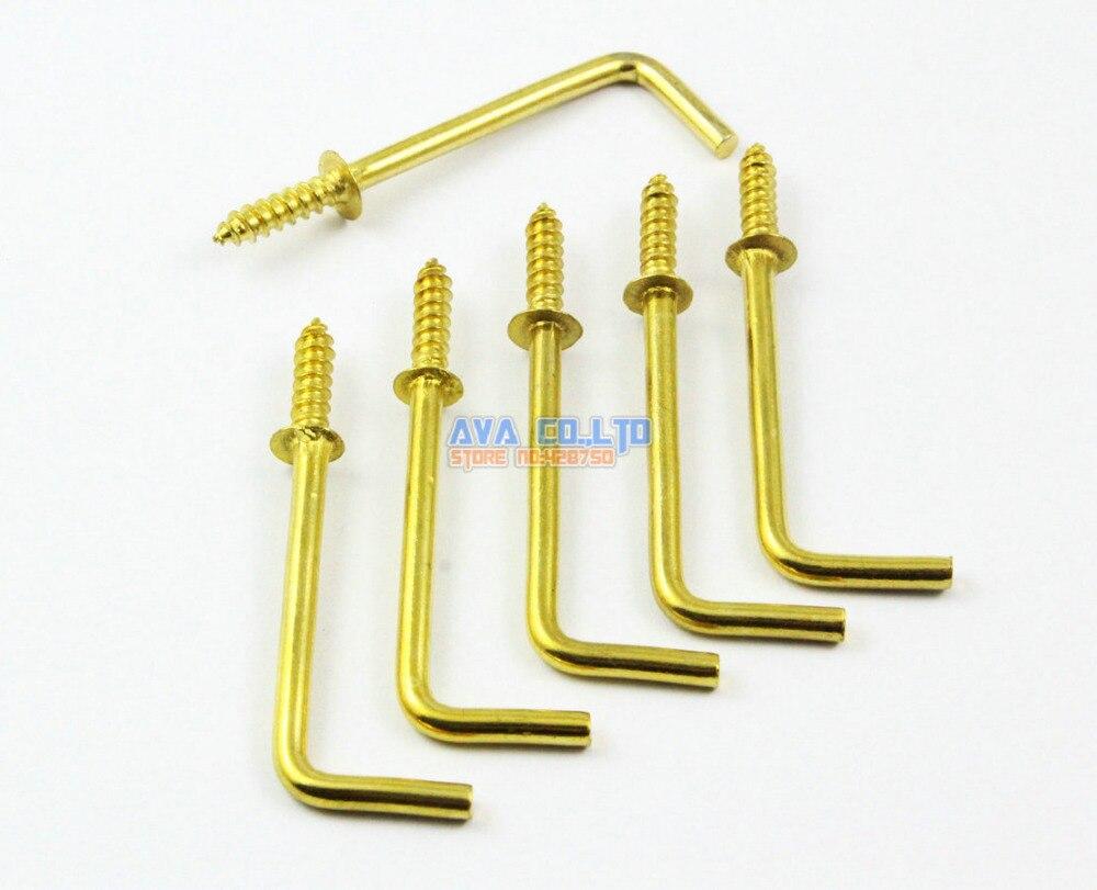 Gancho en forma de L de oro de 50 piezas gancho en ángulo recto gancho en L 55x19mm