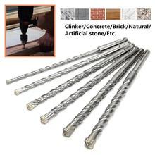 26cm forets 6/8/10/12/14/16mm pour polisseuse à marteaux électrique bi-métal Type croisé acier au tungstène SDS Plus pour béton de maçonnerie