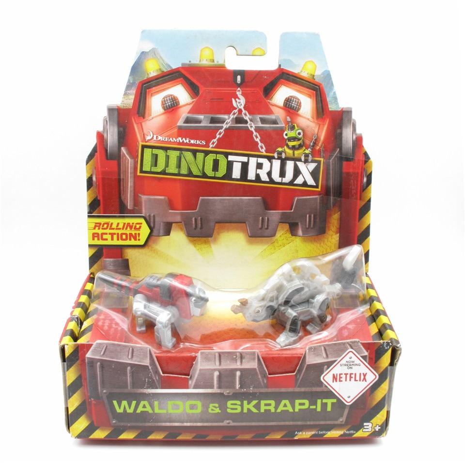 Dinotrux camión de juguete WALDO y SKRAP-IP dinosaurio de juguete modelos niños presentes Mini juguetes de los niños