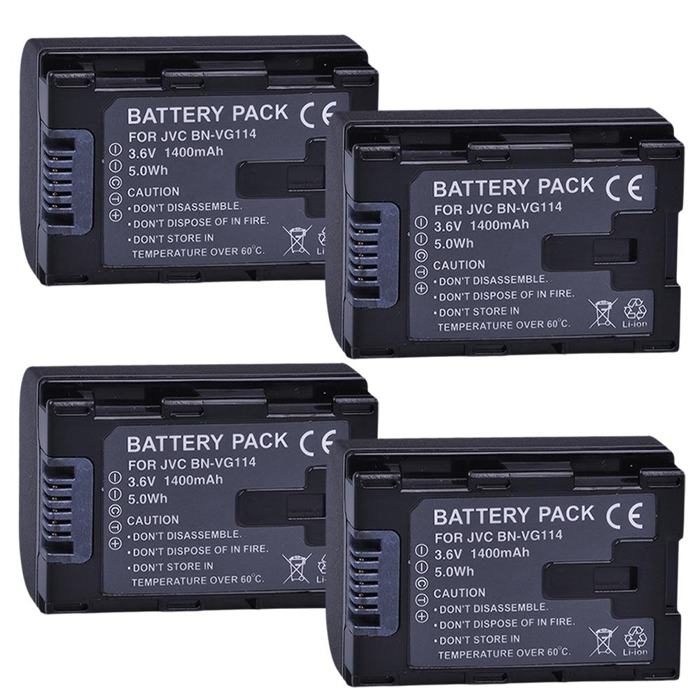 4 Uds BN VG114 batería JVC VG108U VG107U VG114U BNVG121 VG138U VG138 VG107E VG121E VG114E VG121 VG114 VG108E BNVG114 VG107