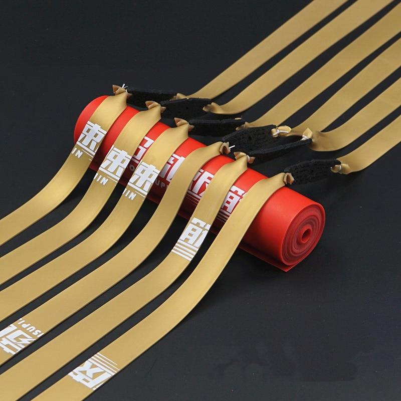 Bandas de goma para tirachinas, Color dorado, 1,0 MM, 2 uds.