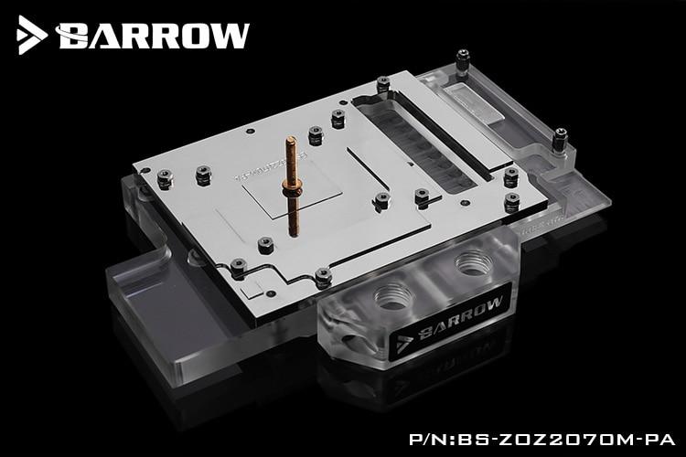 BARROW Water Block use for ZOTAC RTX2070 8GD6 MINI OC/ RTX2060 AMP / 2060 Super Mini / Full Cover GPU Block Support  A-RGB 3PIN enlarge