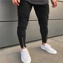 2020 sıcak satış erkek tasarımcı kot siyah kot erkekler rahat erkek jean sıska motosiklet yüksek kaliteli kot pantolon