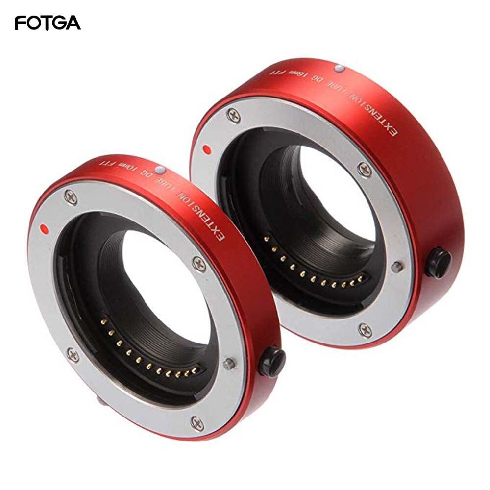 Fotga metal auto foco macro extensão tubo 10mm + 16mm conjunto para micro quatro terços mft m4/3 montagem gh1/2/3 gh4 gh5 gh5s E-PM1 E-PM2