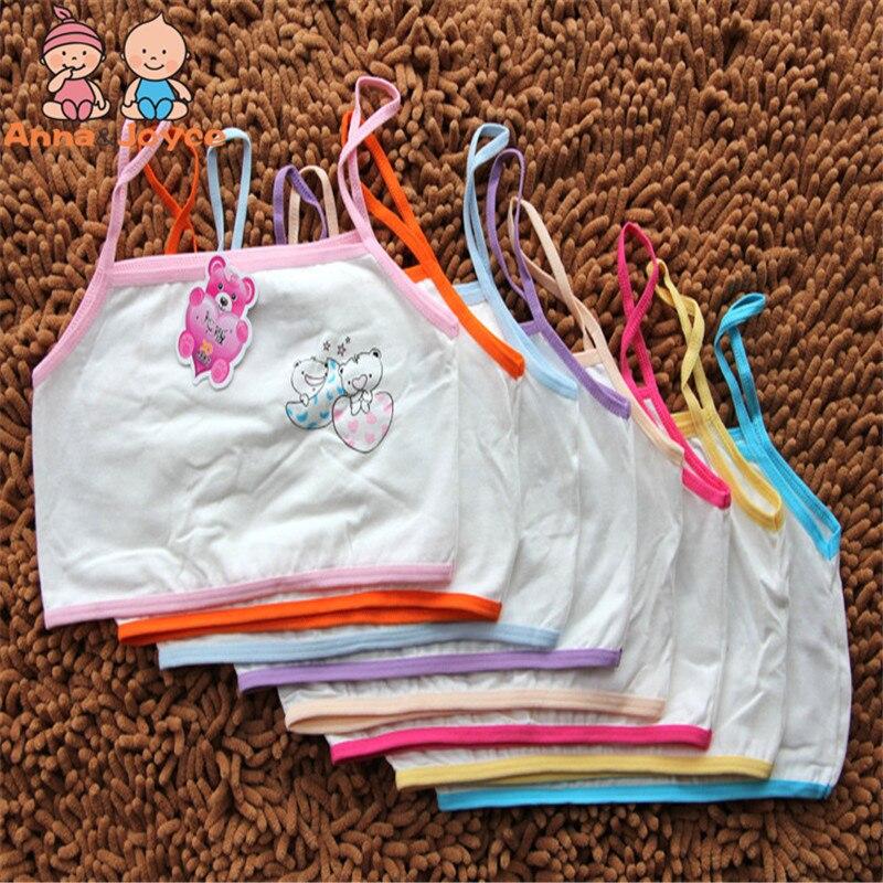 Lote de 3 unidades de ropa interior para niñas, chaleco de algodón para niñas, sujetador de aprendizaje para niños, sujetador para sudor TST0142