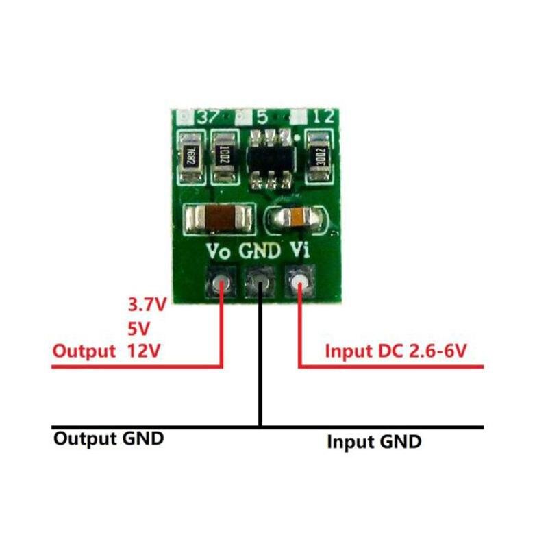 3,7 В 5 в 12 В DC-DC Повышающий Модуль питания повышающий преобразователь напряжения для 18650 403040 Li-Po литий-ионный аккумулятор
