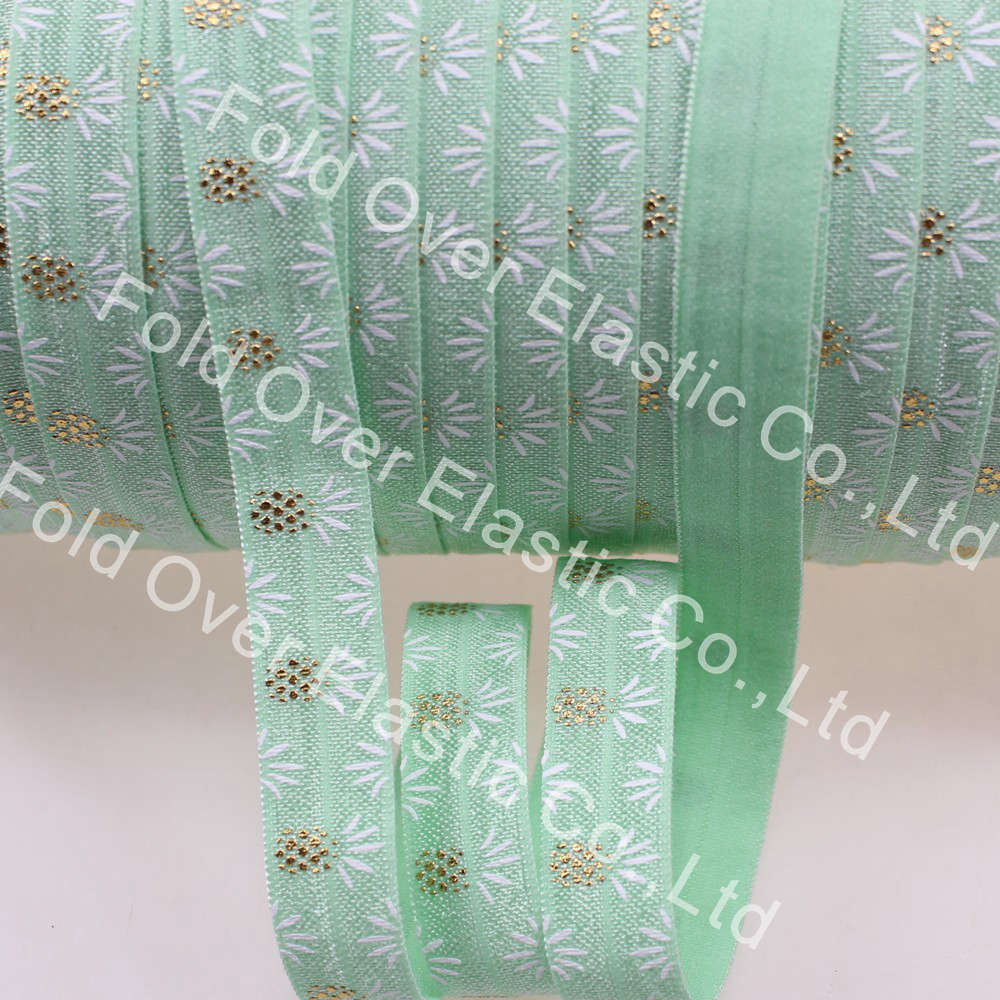 100 yards ananas muster auf lindgrün, Freies verschiffen falten elastische gedruckt Haar elastische foe
