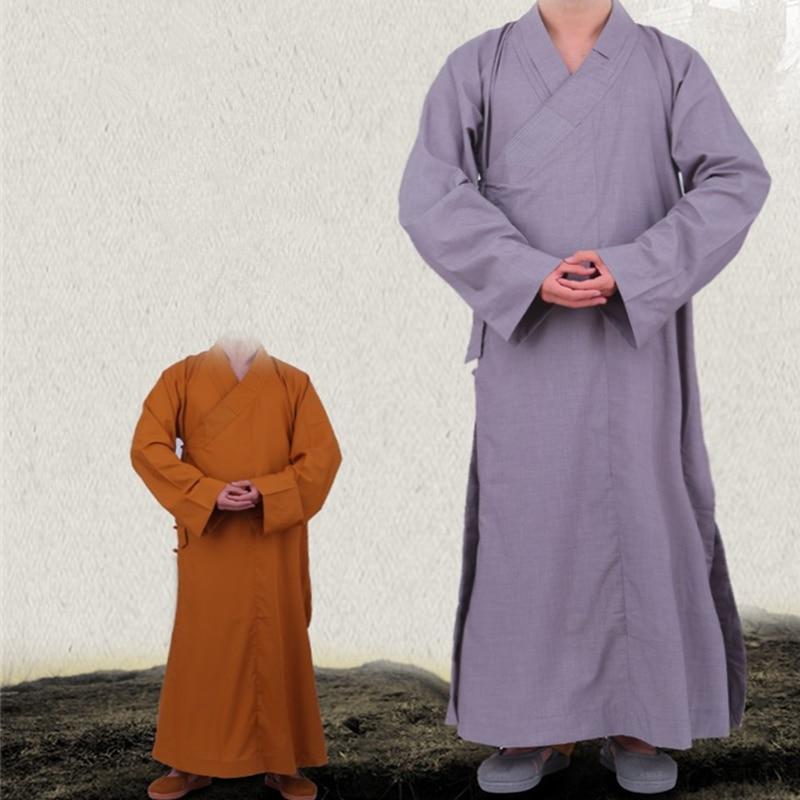 Alta calidad Shaolin monje budistas monje laico bata de meditación chaqueta de kungfú artes marciales Wushu Zen ropa de meditación