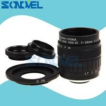 FUJIAN 35mm F1.7 CCTV TV Movie lens+C Mount +Macro ring for Fuji Fujifilm X-E2 X-E1 X-Pro1 X-Pro2 X-M1 X-A3 X-A2 X-A1 X-T1 C-FX