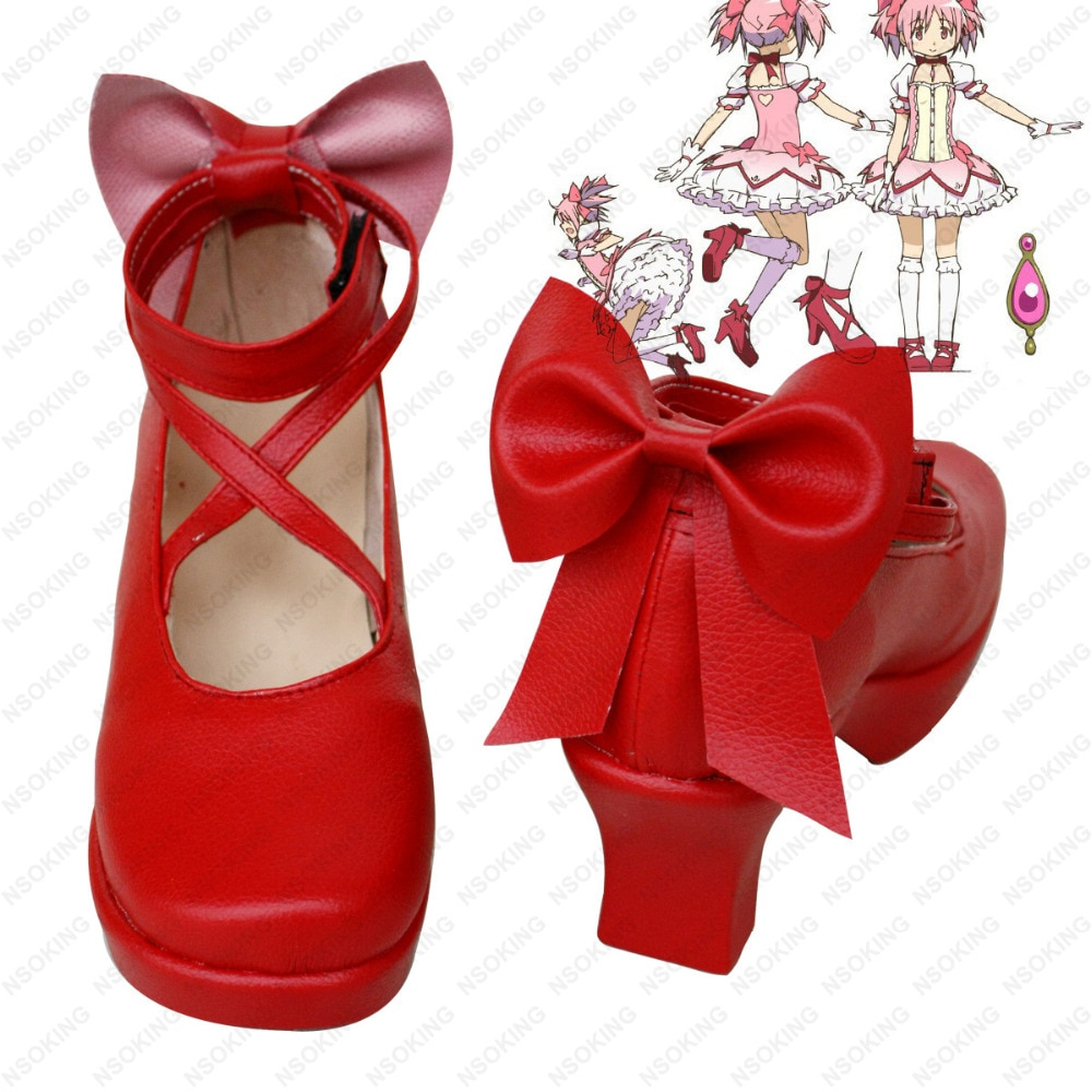 Puella Magi Madoka Magica-أحذية تنكرية ، أحذية جديدة