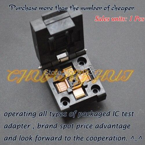 qfp64 test socket ic51 0644 692 test socket ic socket pitch 0 8mm QFP64 TQFP64 test socket IC51-0644-1972 ic socket  Pitch=0.4mm Size=7x7mm/9x9mm