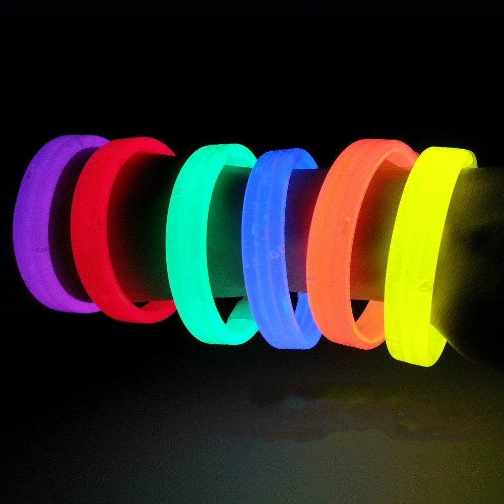 (5 pc) vara triplo pulseira pulseira de fluorescência vara Concerto Noite off luz fluorescente à noite correndo torcendo adereços