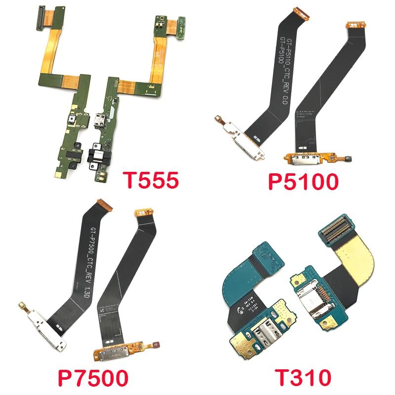 Puerto de carga USB puerto conector Jack placa de carga Flex para Samsung P5100 P7500 T310 N5100 T800 P600 P605 T311 T810 T705