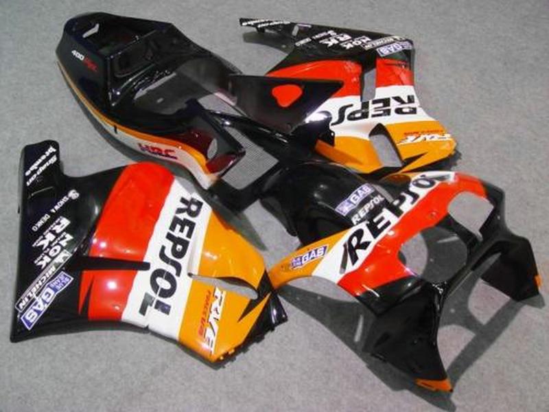 Venda quente carenagem para honda rvf400r nc35 laranja preto carenagem kit 1994-1998 rvf400 vb04