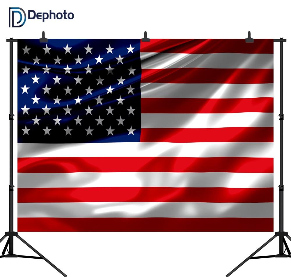 DePhoto sin fisuras bandera americana patrón personalizado fotografía telón de fondo estudio artículo PGT063