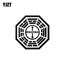 YJZT 15CM * 15CM perdu Dharma Initiative personnalité vinyle autocollant de voiture noir/argent décoration autocollant C11-1221