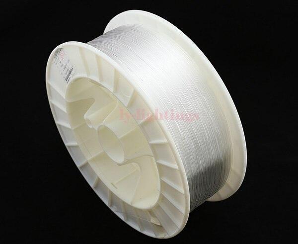 Cable de luz de fibra óptica PMMA brillante 1mm/1500 m línea de fibra óptica transparente para Decoración