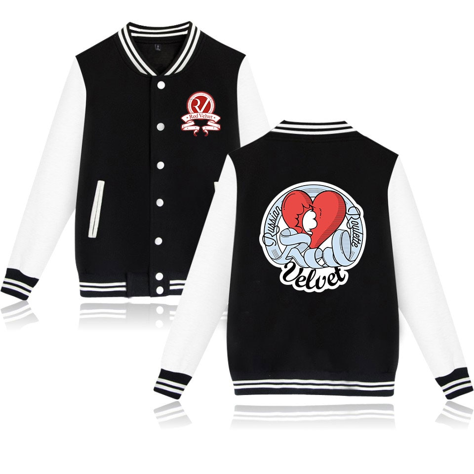 fashion kpop red velvet bad boy printed hip hop pocket button Baseball Jacket men women Sweatshirts casual hoodies Jackets coats
