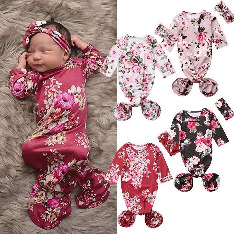 Sacos de dormir do bebê infantil bonito princesa flor swaddle warp cobertor sacos de dormir bandana 2pcs roupa infantil do bebê