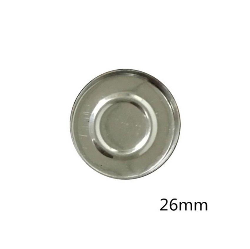 18 pçs 26mm/36mm redondo ferro sombra panelas diy olho sombra vazio clamshell pode segurar em nossa paleta de sombra magnética firmemente