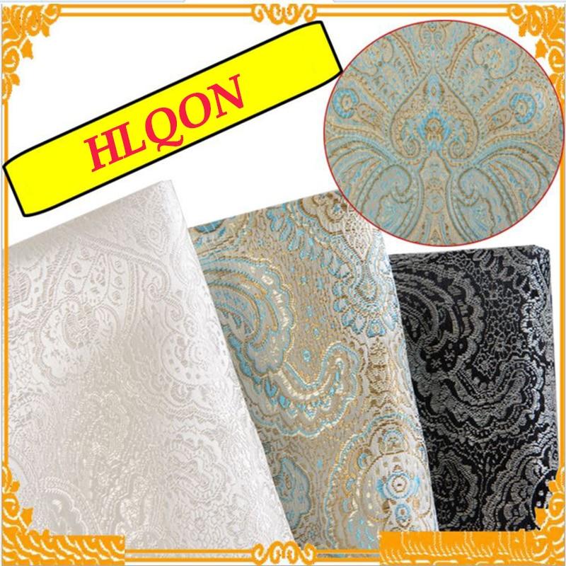 114x100 см Высококачественная металлическая жаккардовая парчовая ткань, 3D жаккардовая пряжа, окрашенная ткань для одежды, постельного белья, с...