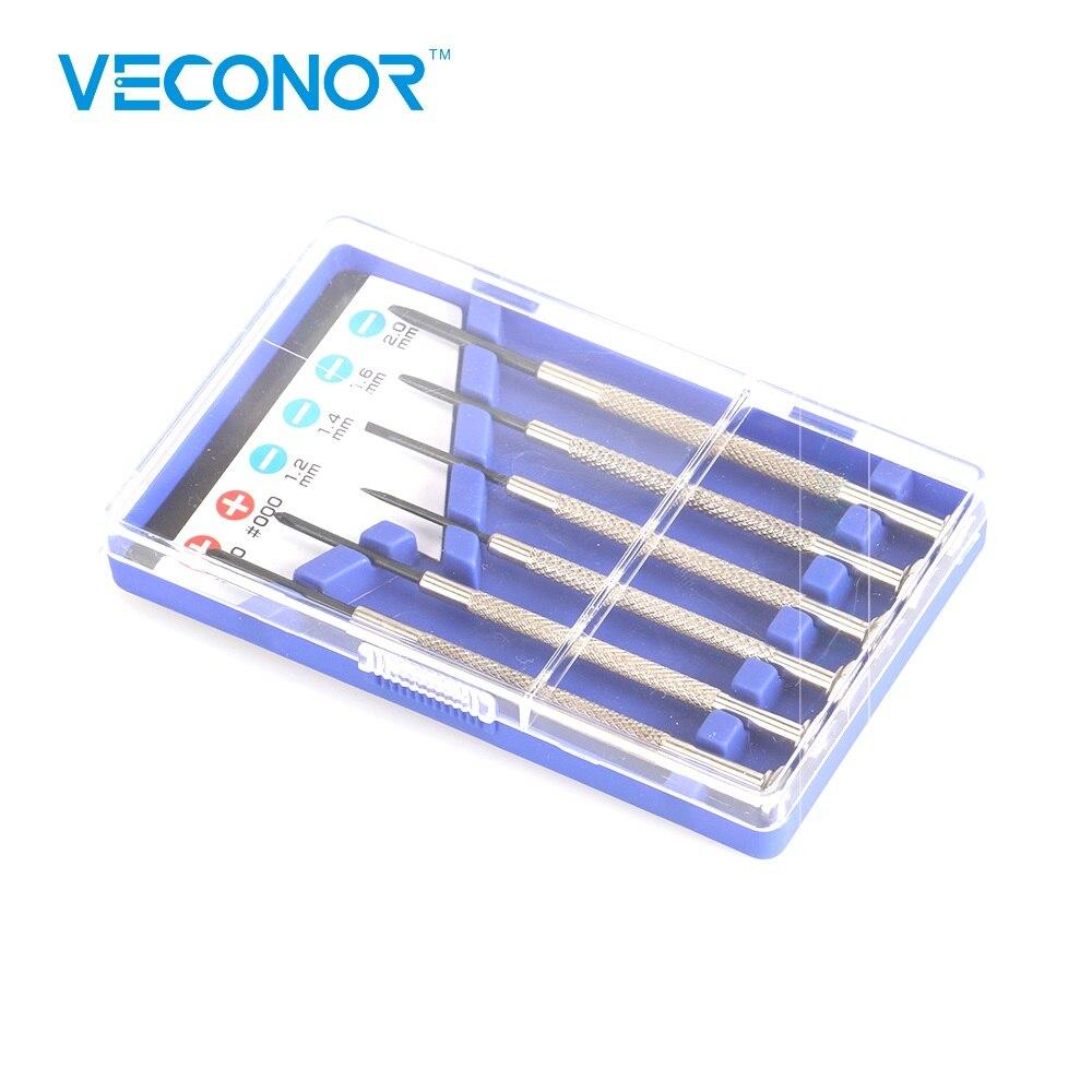 6 pçs mini precisão chave de fenda conjunto phillips chaves ferramentas para psp iphone computador óculos reparação