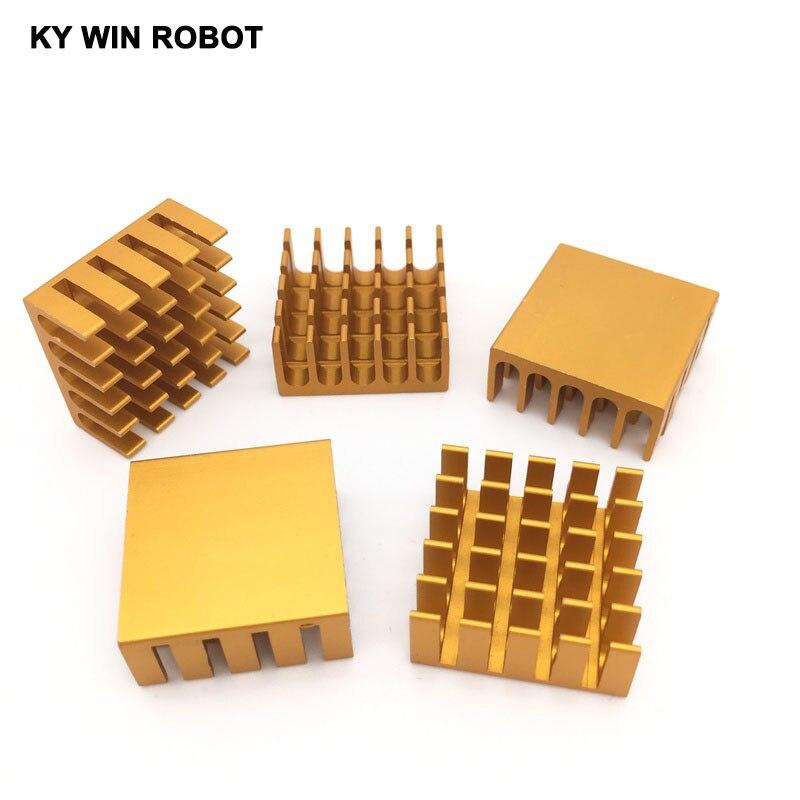 5 stücke 22x22x10mm Aluminium-kühlkörper IC RAM CPU Kühler 22*22*10 MM