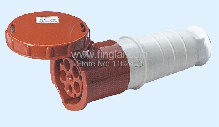 موصل/مرارنة صناعية 125A 3P N E 5 pin, 220-380V/240-415V IP67 245 ثلاث مراحل ، مقاوم للماء