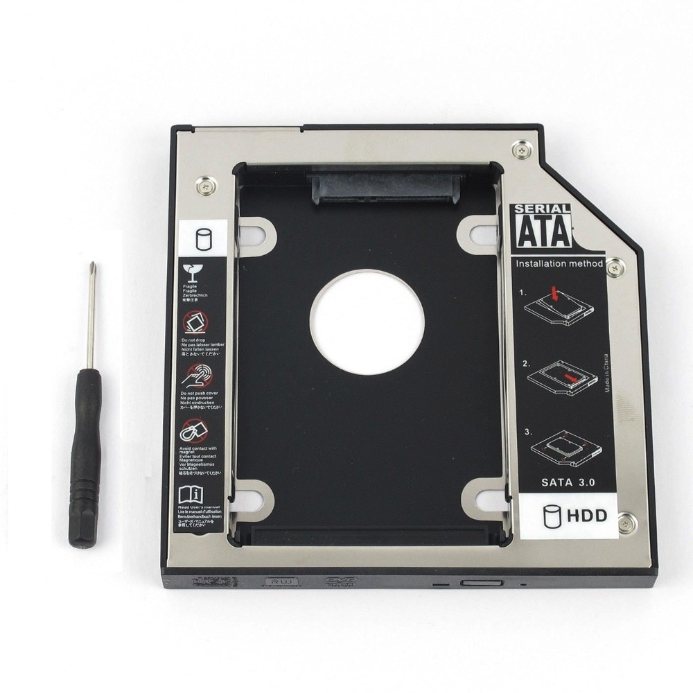 WZSM Оптовая продажа Новый 2nd SATA HDD SSD жесткий диск 12,7 мм для HP G42 G50 G60 G61 G70 G71 G72 425 620 625 630