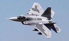 Echelle SkyFlight LX F22 Raptor RC RTF avion modele Twin Metal 70MM batterie EDF