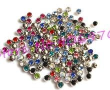 Anneau de sourcil de goujon détincelle de cristal de pierre gemme de boule de langue accessoire de perçage dacier inoxydable 316L 1.6*6mm 1.2*3mm livraison gratuite