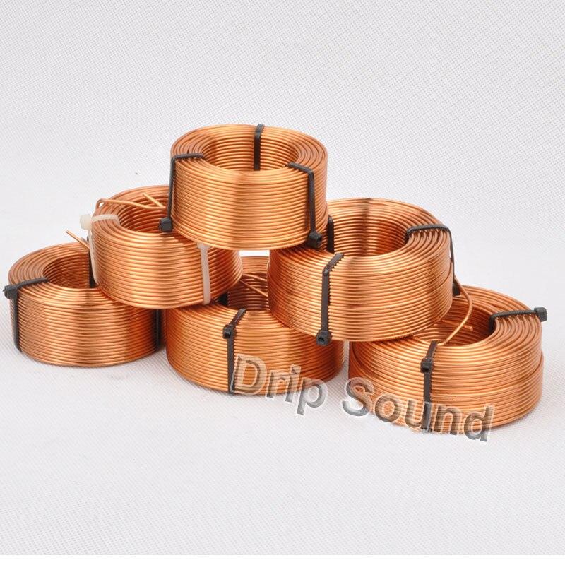 1 piezas 2,0mm 1.0mH-4.0mH altavoz cruzado amplificador de Audio Inductor 4N bobina de alambre de cobre sin oxígeno # de cobre
